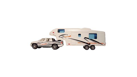 Pick Up and 5th Wheel Die Cast Toy