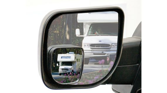 "3 1/4"" x 3 1/2"" Wedge Style Spot Mirror"